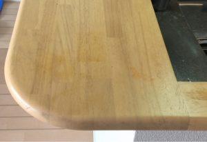 福岡市博多区でキッチンカウンターシミを塗装で再生!