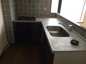 福岡市早良区でキッチン大理石天板コーティング