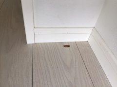 福岡市博多区で床補修【フローリングのタバコ焦げ痕補修】