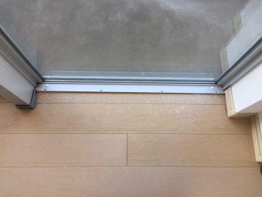 福岡市東区で「床補修」フローリングの結露シミ補修