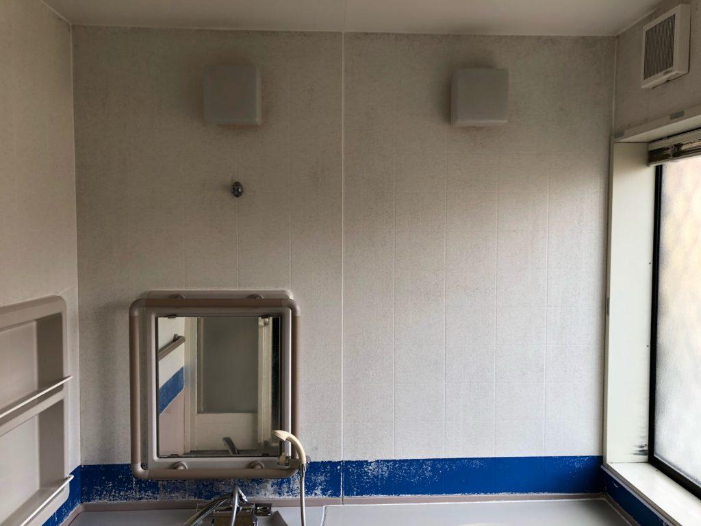 福岡県飯塚市で浴室プチリフォーム(コンフォートパネル貼り)